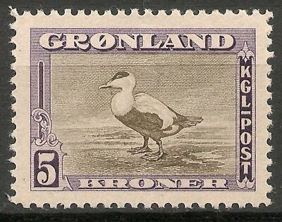 GREENLAND - 1945 American issue  5 Kr  - MNH VF -Facit 18