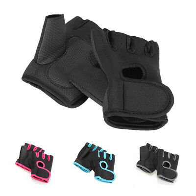Sport Cycling Fitness GYM Half Finger Gloves Weightlifting Exercise Trainin X7H7