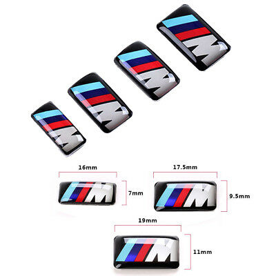 4PC BMW ///M 3M Self Adhesive decal Chrome Logo Emblem Badge Sticker Hub Wheel