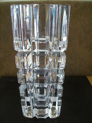 Orrefors Glass Vase - Signed And Numbered 4233 221 - 8.5ins