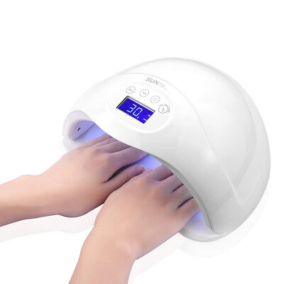48W SUN5 PLUS UV-Lampe LED Lichthärtungsgerät Nagel Trockner Gel Dryer Sensor