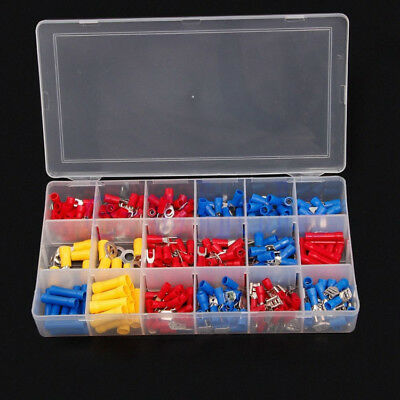 300 x Assorted Insulated Crimp Terminals Sleeve Electrical Connector Spade Tool