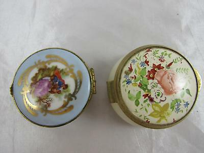 Limoges & The Birmingham Mint, Trinket box, 2x.