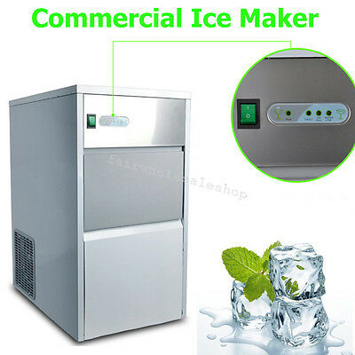 Automatic Commercial Ice Maker 55 lb/25kg Ice Cube Machine Restaurant Bar COOL