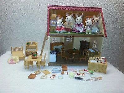 * Sylvanian Family * My First House Calico Critters Bunny Rabbit Furniture Lot