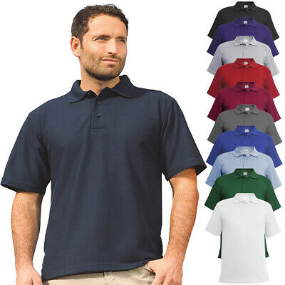 Mens Classic Polo Top Plus Size T-Shirt Plain Shirt Big And Tall Short Sleeve