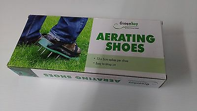 Greenkey Garden Lawn Aerating Strap On Shoes Spikes