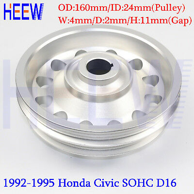 Racing Light Weight Crankshaft Pulley OEM  For Honda 92-95 Civic SOHC D16 SILVER