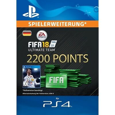 FIFA 18 Ultimate Team - 2200 FIFA FUT Points PS4 Playstation Punkte PSN Code DE