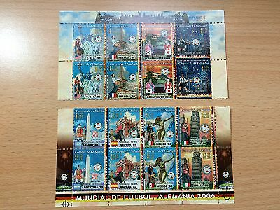 EL Salvador World Cup Argentina 78 to Germany 06 STAMPS MINT - FREE POST