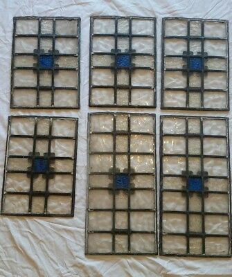 Set of 6 matching leadlight/lead light/ stained glass panels/windows