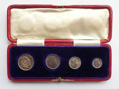 Edward VII, maundy set, 1903, in contemporary leather box, UNC