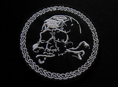 Totenkopf Aufnäher / Patch - Okkult Black Metal Biker Skull Military Army