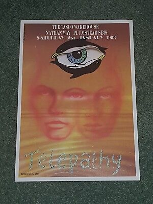 Telepathy rave flyer rare in mint condition