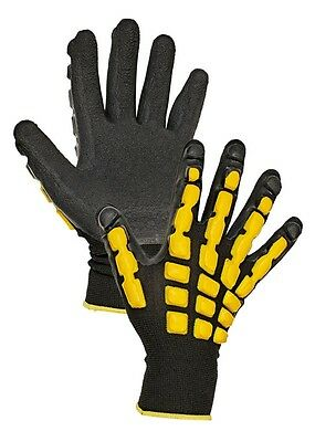 Latex Work Gloves Coated Palm Nylon Knit Dipped Rubber Grip Pair Lot, 1 Pair