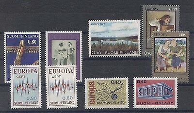 Finland Europa lot timbres neufs