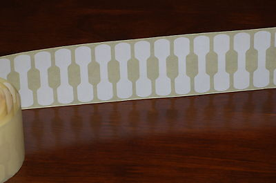 100 White Jewellery Labels Self Adhesive Dumb-Bell Price Tags
