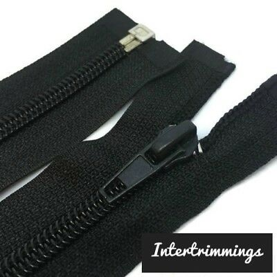 "Special Offer Pack Of 50 Zips, Black 22""/56Cm Nylon Zippers, Open End, Auto Lock"