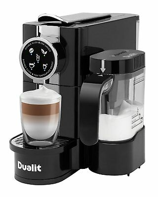 DUALIT Cafe CINO Capsule Coffee Machine Milk Frother BLACK CPD3M Nespresso 85180