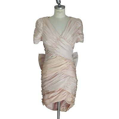 CAILAN'D bridal wedding dress vintage pink pink beige two pieces in silk size 46