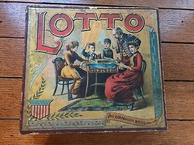 Antique Lotto board game Mcloughlin Bros New York ca 1900s