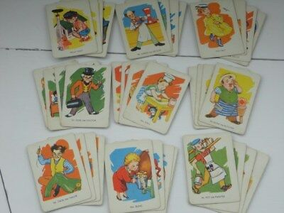 HAPPY FAMILIES vintage 1950s PLAYING CARDS