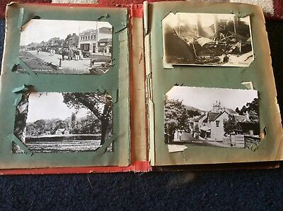 POSTCARD ALBUM OF 60 cards,  42 real photo postcards, nice little lot.
