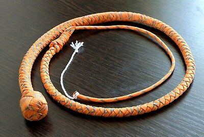 Nylon paracord snake WHIP 2ft Camo Orange