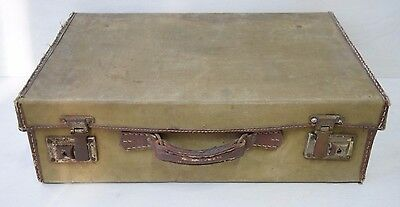 Vintage Collectible Military Soldier's Russian USSR Communist Canvas Suitcase