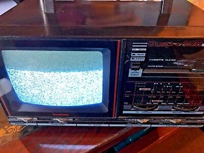 Goodman's Vintage/retro 80's Tv/radio/tape Player Collectible Fully Working