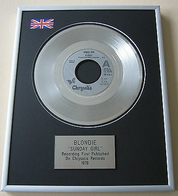 BLONDIE Sunday Girl PLATINUM SINGLE DISC PRESENTATION