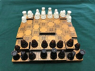 Past Times Medieval Three Tiered Chess set
