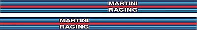 """Car Vinyl Sticker Decal Martini Racing Side Stripe Colours Style Tape x 2 - 1.5"""""""