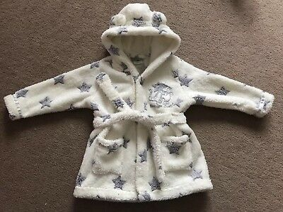 Baby Girl Dressing Gown Bath Robe Size 3-6 Months