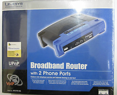 Linksys Cisco RT31P2-NA VoIP Broadband Router with 2 Phone 3 Ethernet Ports