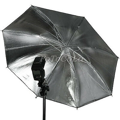 "33"" 83cm studio flash reflector umbrella black silver"