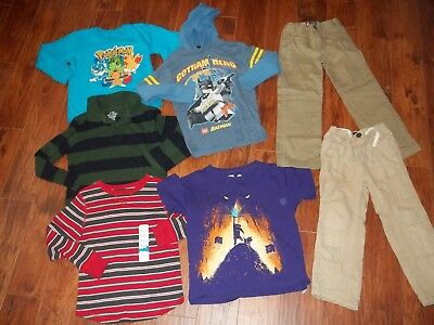 Lot Boys FallWinter Clothes 6 Chaps Baby Gap Pants Lego Hoodie Shirts Minecraft