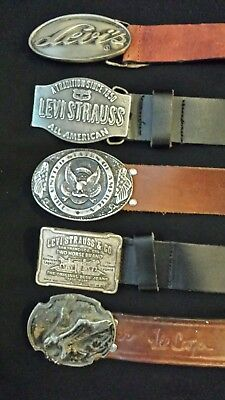 mix vintage belt and buckle job lot