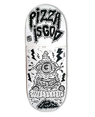 "skateboard by @matdisseny - skate art recycled deck ""Pizza is God"""