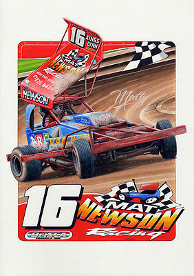BriSCA F1 A3 size print of Mat Newson No 16.