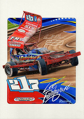 BriSCA F1 A3 size print of Lee Fairhurst No 217.