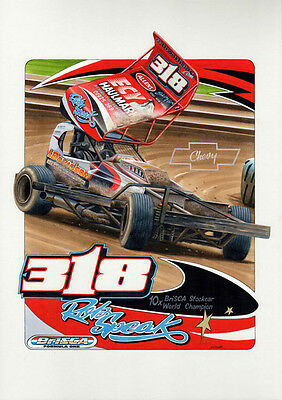 BriSCA F1 A3 size print of Rob Speak No 318