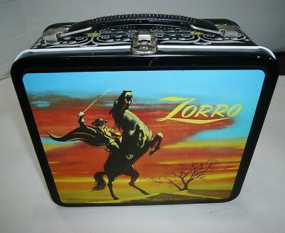 Vintage Aladdin Zorro Metal Lunchbox Beautiful
