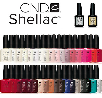 CND Shellac UV Gel Nail Polish choose ALL colours, Top Coat & Base Coat