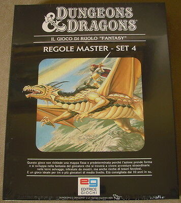 D&d-Set 4 Master Rules (Italian Language Version)-New Sealed-Sw Dungeons&dragons
