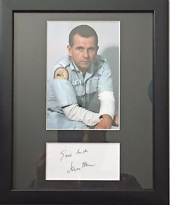 Christoph Waltz & Ian Holm Genuine autographs with COA Mounted & Framed New