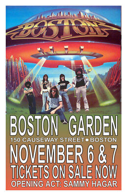 Boston  Replica *boston Garden* 1978 Concert Poster