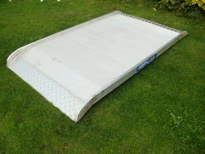 Raalloy Container Heavy Duty Aluminium Ramp 750KG 7FT x 4FT Ride On Tractor
