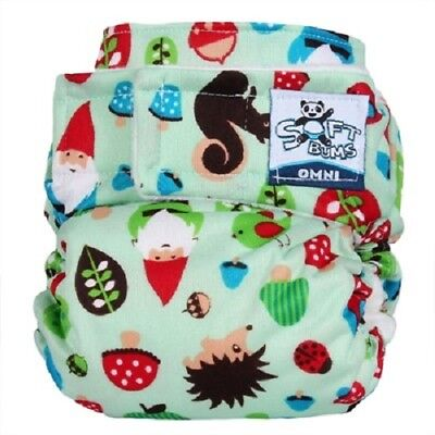 NWT - Softbums Omni All-In-2 Cloth Diaper Shell - Getting to Gnome You w/Velcro