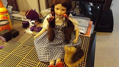 wizard of oz porlian dorothy doll/toto/used.